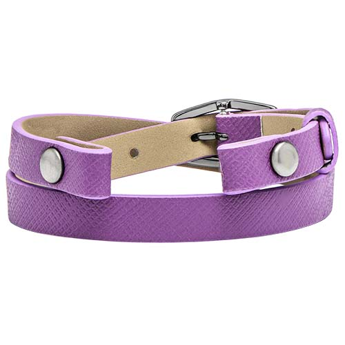 BR4060 Eye Candy Purple Double Leather Wrap Bracelet V1 copy   Copy